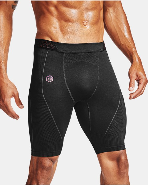 Men's UA RUSH™ Seamless Long Shorts, Black, pdpMainDesktop image number 2