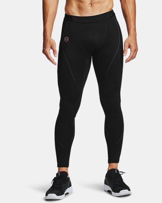 Men's UA RUSH™ Seamless Leggings, Black, pdpMainDesktop image number 2