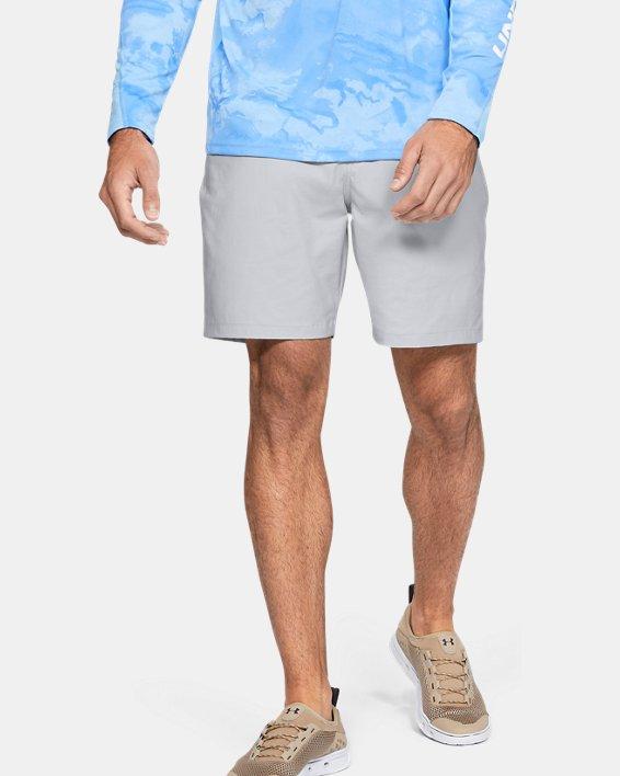 "Men's UA Fish Hunter 8"" Shorts, Gray, pdpMainDesktop image number 0"