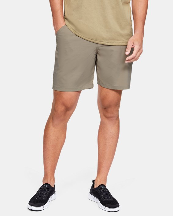 "Men's UA Fish Hunter 8"" Shorts, Brown, pdpMainDesktop image number 0"