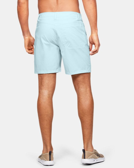 "Men's UA Fish Hunter 8"" Shorts, Blue, pdpMainDesktop image number 2"