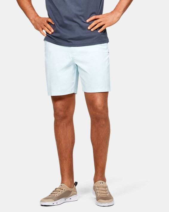 "Men's UA Fish Hunter 8"" Shorts, Blue, pdpMainDesktop image number 0"