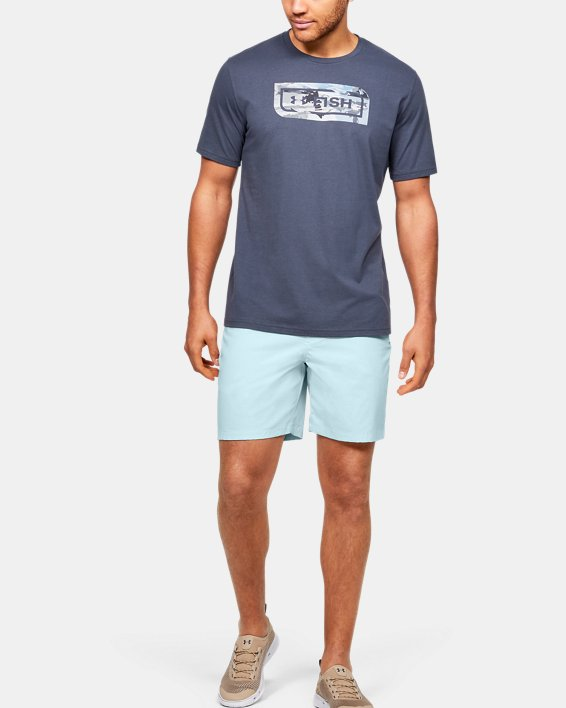 "Men's UA Fish Hunter 8"" Shorts, Blue, pdpMainDesktop image number 1"