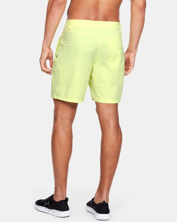 "Men's UA Fish Hunter 8"" Shorts, Yellow, pdpMainDesktop image number 2"