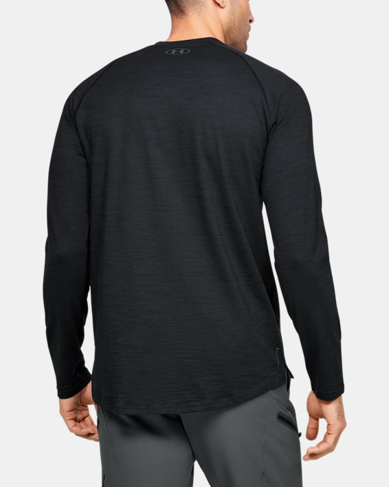 Men's Project Rock Charged Cotton® Long Sleeve, Black, pdpMainDesktop image number 2