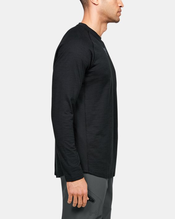 Men's Project Rock Charged Cotton® Long Sleeve, Black, pdpMainDesktop image number 3