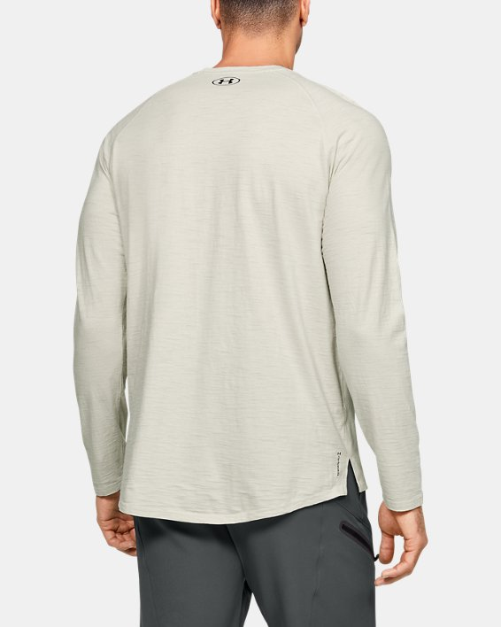 Men's Project Rock Charged Cotton® Long Sleeve, White, pdpMainDesktop image number 2