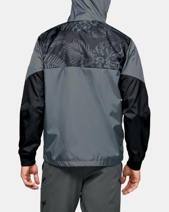 Men's Project Rock Legacy Windbreaker Jacket, Black, pdpMainDesktop image number 2