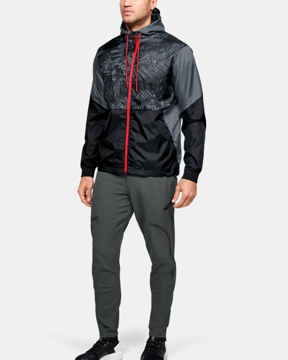 Men's Project Rock Legacy Windbreaker Jacket, Black, pdpMainDesktop image number 0