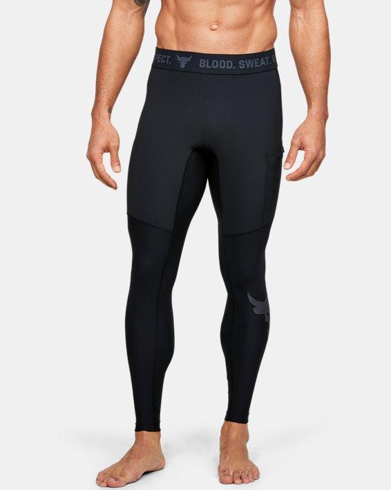 Men's Project Rock Leggings, Black, pdpMainDesktop image number 0