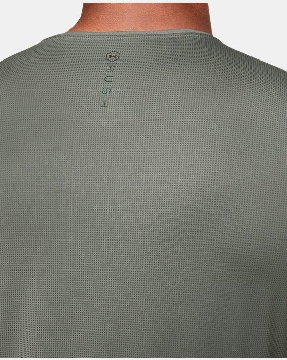 Men's UA RUSH™ HeatGear® Fitted Short Sleeve Printed, Green, pdpMainDesktop image number 6