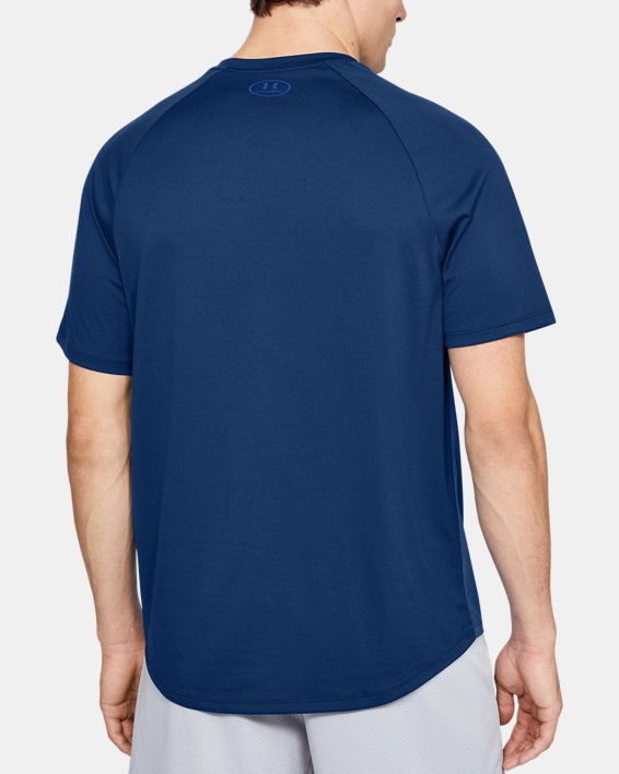 Men's UA Tech™ 2.0 Emboss Short Sleeve, Blue, pdpMainDesktop image number 2