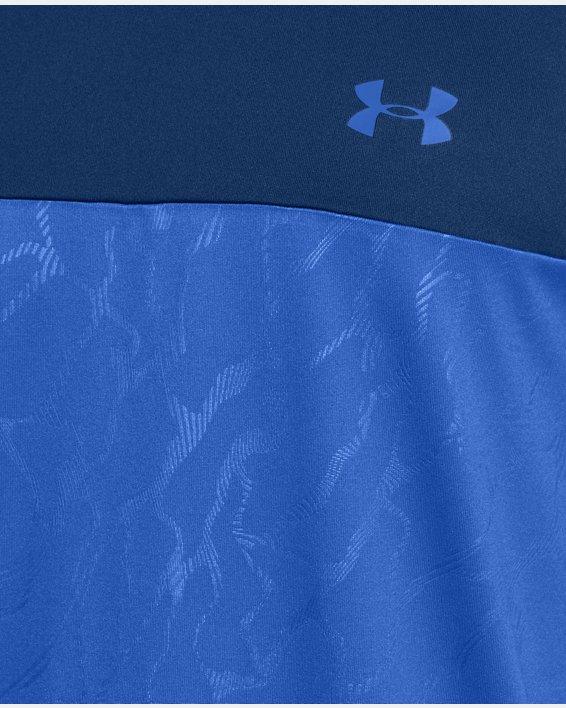 Men's UA Tech™ 2.0 Emboss Short Sleeve, Blue, pdpMainDesktop image number 5