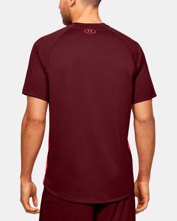 Men's UA Tech™ 2.0 Emboss Short Sleeve, Red, pdpMainDesktop image number 2