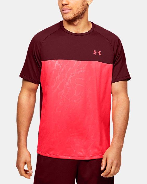 Men's UA Tech™ 2.0 Emboss Short Sleeve, Red, pdpMainDesktop image number 0