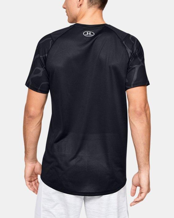 Men's UA MK-1 Tonal Print Short Sleeve, Black, pdpMainDesktop image number 2