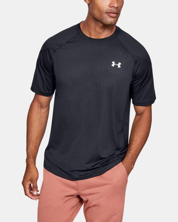 Men's UA RECOVER™ Short Sleeve, Black, pdpMainDesktop image number 0