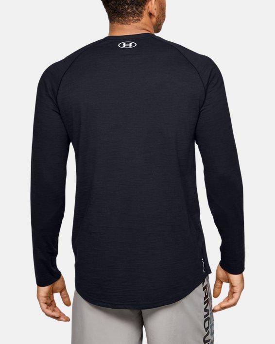 Men's Charged Cotton® Long Sleeve, Black, pdpMainDesktop image number 2