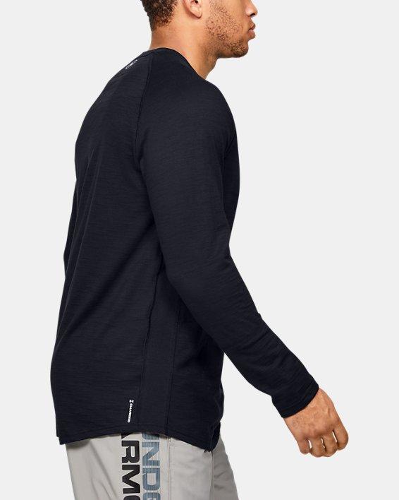 Men's Charged Cotton® Long Sleeve, Black, pdpMainDesktop image number 3