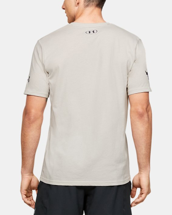 Men's Project Rock Mahalo Short Sleeve, White, pdpMainDesktop image number 2