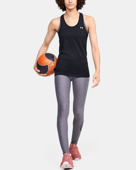 Women's UA Seamless Tank, Black, pdpMainDesktop image number 1