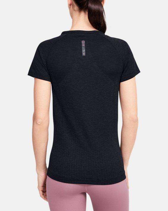 Women's UA RUSH™ Seamless Short Sleeve, Black, pdpMainDesktop image number 0