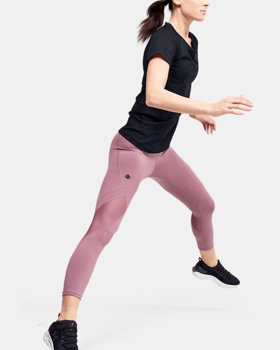 Women's UA RUSH™ Seamless Short Sleeve, Black, pdpMainDesktop image number 1