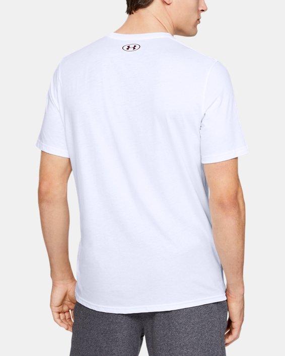 Men's UA Boxed Sportstyle Camo Fill Short Sleeve, White, pdpMainDesktop image number 2