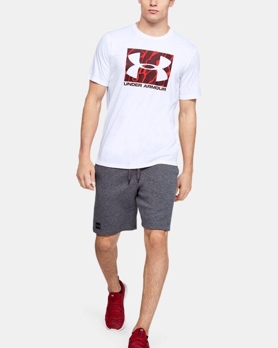 Men's UA Boxed Sportstyle Camo Fill Short Sleeve, White, pdpMainDesktop image number 0
