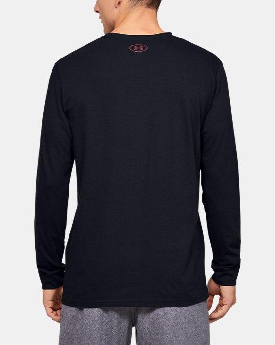 Men's UA Sportstyle Fill Logo Long Sleeve, Black, pdpMainDesktop image number 2