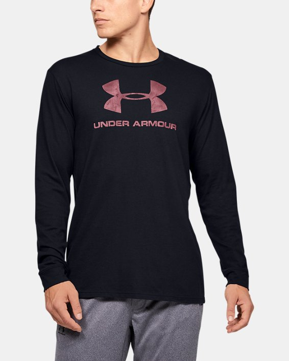 Men's UA Sportstyle Fill Logo Long Sleeve, Black, pdpMainDesktop image number 0