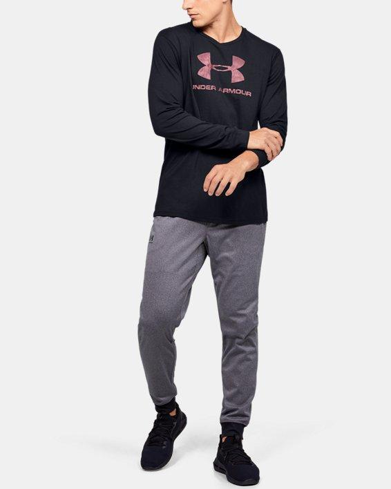 Men's UA Sportstyle Fill Logo Long Sleeve, Black, pdpMainDesktop image number 1