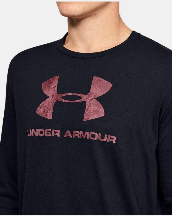 Men's UA Sportstyle Fill Logo Long Sleeve, Black, pdpMainDesktop image number 5