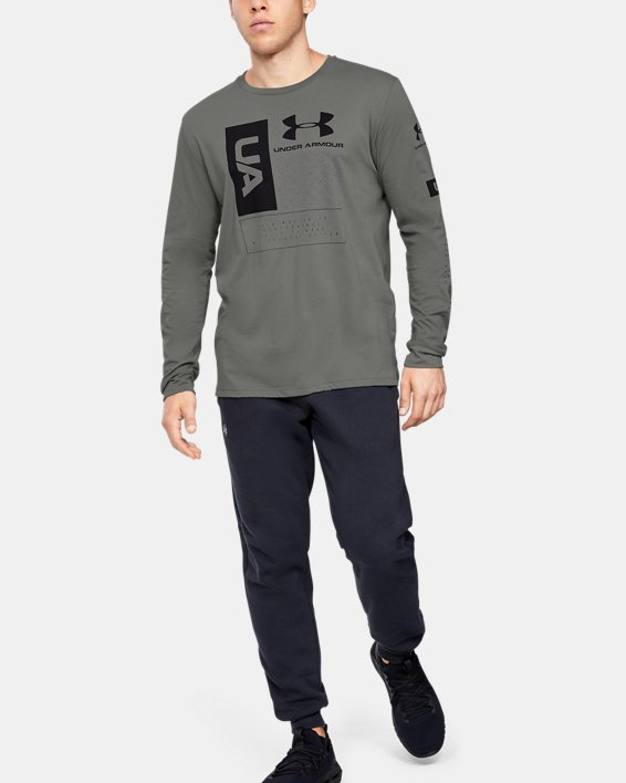Men's UA Multi Long Sleeve, Green, pdpMainDesktop image number 1