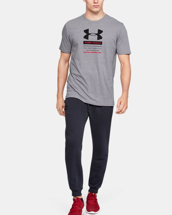 Men's UA Originators Of Performance Center Short Sleeve, Gray, pdpMainDesktop image number 0