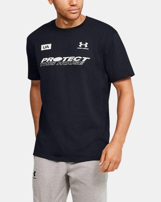 Men's UA PTH Back Short Sleeve, Black, pdpMainDesktop image number 2