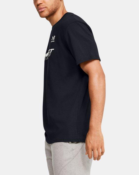 Men's UA PTH Back Short Sleeve, Black, pdpMainDesktop image number 3