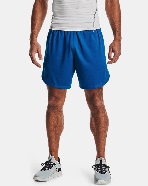 Men's UA Knit Performance Training Shorts, Blue, pdpMainDesktop image number 1