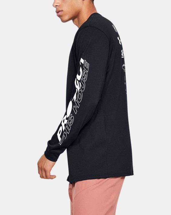 Mens's UA PTH Long Sleeve, Black, pdpMainDesktop image number 3
