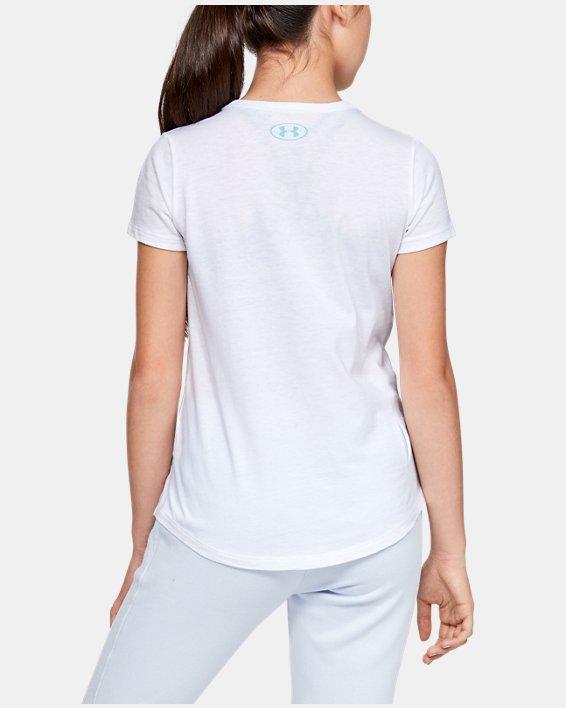 Girls' UA Athlete Graphic T-Shirt, White, pdpMainDesktop image number 2