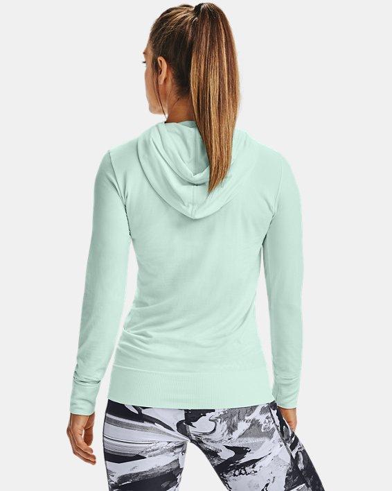 Sweat à capuche UA Seamless pour femme, Blue, pdpMainDesktop image number 2
