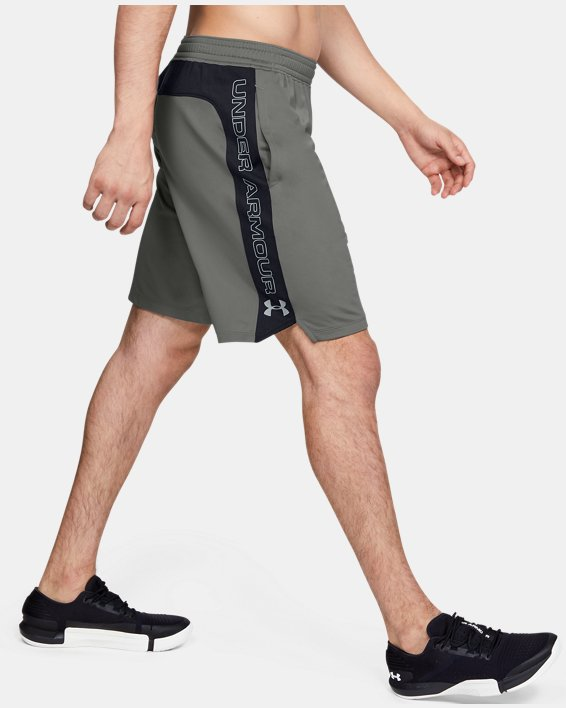 Short UA MK-1 Graphic pour homme, Green, pdpMainDesktop image number 3