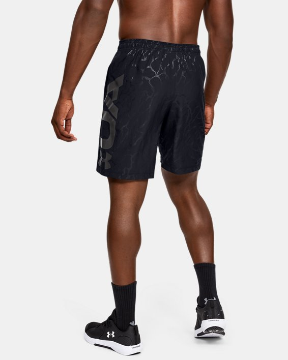 Men's UA Woven Graphic Emboss Shorts, Black, pdpMainDesktop image number 2