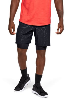 UNDER ARMOUR UA WOVEN GRAPHIC MEN/'S SHORTS 1309651 002 BLACK RED 2XL