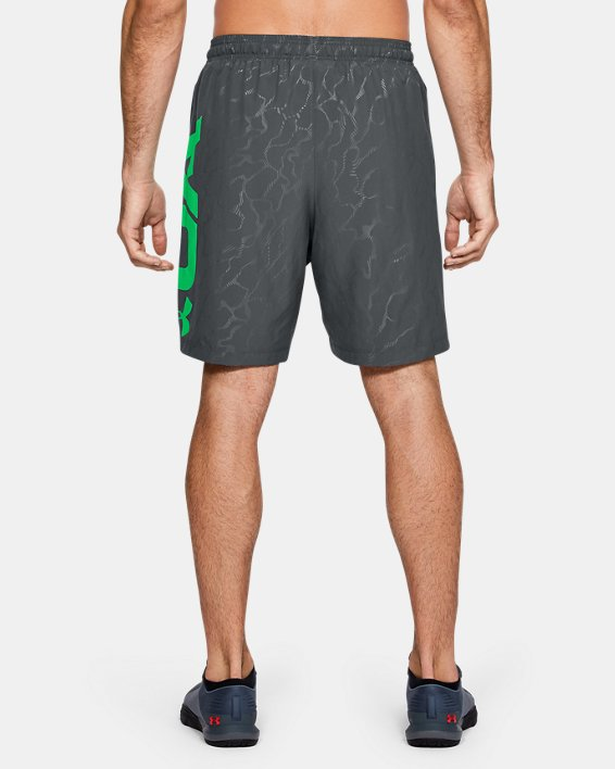Men's UA Woven Graphic Emboss Shorts, Gray, pdpMainDesktop image number 2