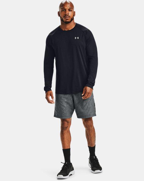 Men's UA Woven Graphic Emboss Shorts, Gray, pdpMainDesktop image number 1