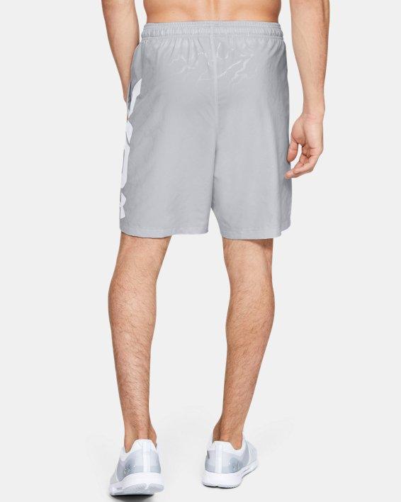 Men's UA Woven Graphic Emboss Shorts, Gray, pdpMainDesktop image number 2