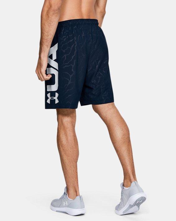 Men's UA Woven Graphic Emboss Shorts, Navy, pdpMainDesktop image number 2