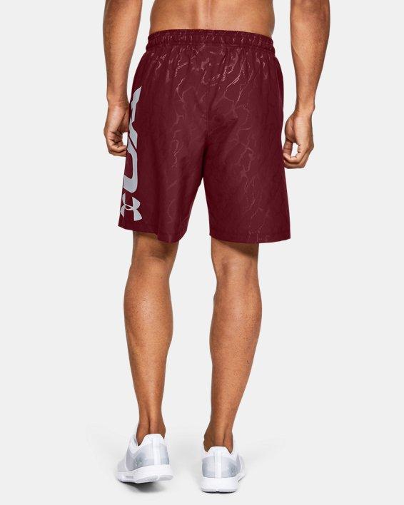 Men's UA Woven Graphic Emboss Shorts, Red, pdpMainDesktop image number 2