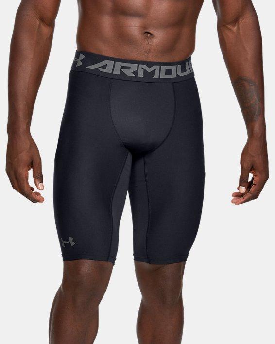 Men's HeatGear® Armour Extra Long Shorts, Black, pdpMainDesktop image number 1